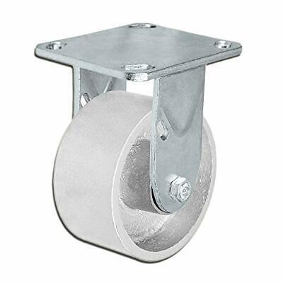 Casterhq - 4 X 2 Inch Rigid Caster - Semi-steel Cast Iron Wheel - 700 Lbs Capa