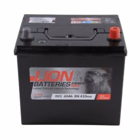 Type 005 Car Battery 420CCA Lion Batteries 60Ah OEM Replacement - 3 yrs warranty