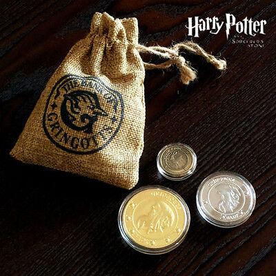 Bank off Gringotts Münze Harry Potter 1xGallone 1xSickel 1xKnuts+Geldsack´´