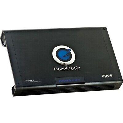 Planet Audio - AC 2000.2 2000W 2-Channel Power Amp Car Audio Amplifier - Multi