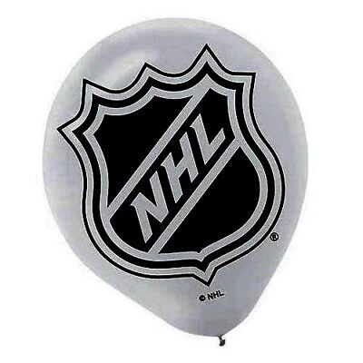NHL HOCKEY LATEX BALLOONS (6) ~ Birthday Party Supplies Helium Decorations Sport - Hockey Birthday Party Supplies