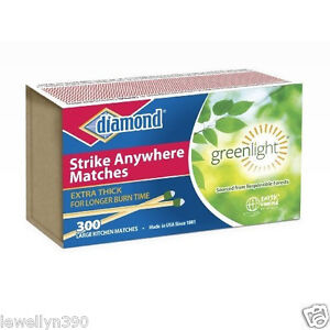 DIAMOND STRIKE ANYWHERE MATCHES 1 PACK 300 COUNT FACTORY SEALED FRESH SALE  NEW