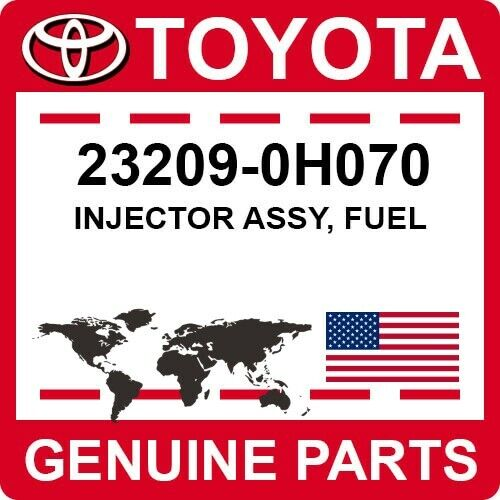 23209-0h070 Toyota Oem Genuine Injector Assy, Fuel