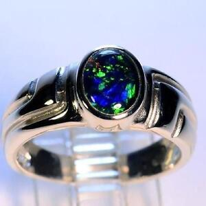 Mens Opal Ring Ebay