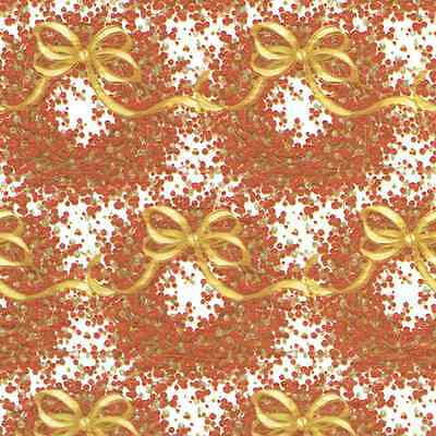 Caspari 2 / 8 ft Rolls Pepperberry Wreath Christmas Gift Wrap Wrapping Paper