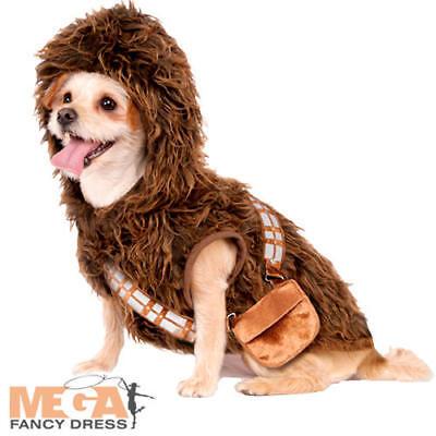 Chewbacca Dog Fancy Dress Star Wars Wookiee Film Animal Puppy Pet Costume Outfit (Filmstar Kostüm Hund)
