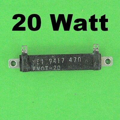 47 Ohm 20w 2 Wirewound Power Resistor Perfect Load For 12v Battery Adapter S