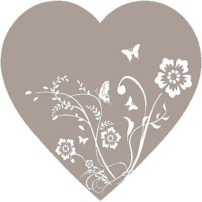 30 Custom Silver Heart Personalized Address Labels