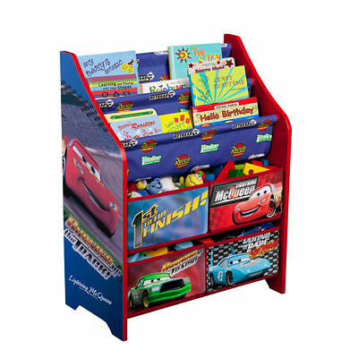 Disney Cars Books And Toy Organizer Toy Box Cubby Bookshelf