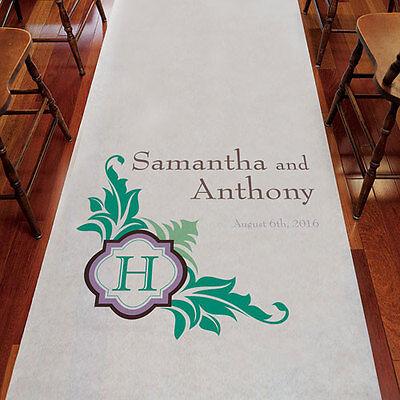 Lavish Monogram PERSONALIZED Aisle Runner Wedding Ceremony Decoration  (Personalized Wedding Aisle Runner)