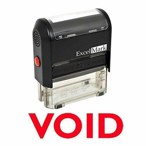 "NEW ExcelMark VOID Self Inking Rubber Stamp A1539 | Red Ink 9/16"" x 1-1/2"""