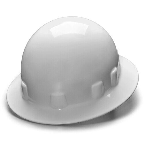 Pyramex HPS24110 SL Series Full Brim 4-Point Ratchet Sleek Shell Hard Hat, White