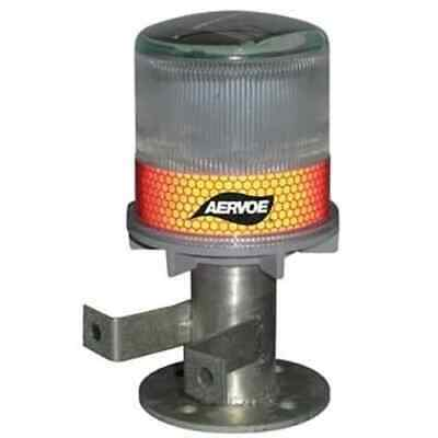 Aervoe 1197 Solar Strobe/Signal Light, Red