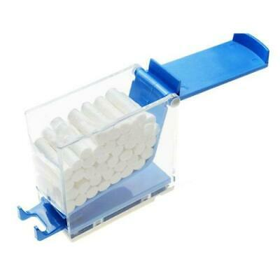 Pressing Press Dental Cotton Roller Box Dispenser Case Container W Rubber Mat