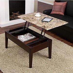 Dorel Living Faux Marble Lift Top Coffee Table - BRAND NEW FREE SHIPPING