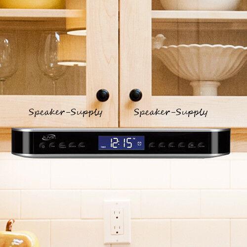 iLive Wireless Bluetooth Under Cabinet Kitchen Music System FM Radio LED IKB333S