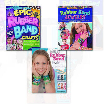 Fun Loom Designs (Rubber Band Loom fun 3 Books Collection Set Awesome Designs for Bracelets)