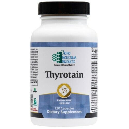 Ortho Molecular products - Thyrotain - 120 Capsules