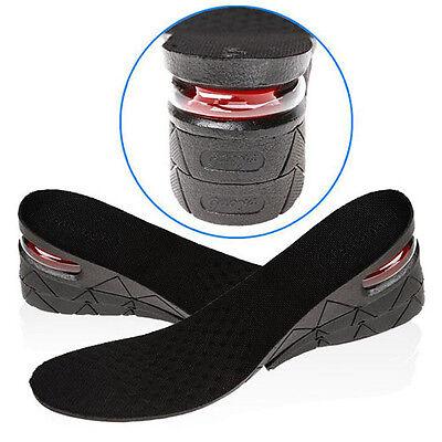Pair of 7cm PU 2-layer Erhöhung Einlegesohle Schuh Einlagen Schuheinlagen
