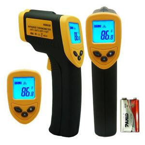 Infrared Thermometer for Powder Coating - Non Contact Laser LED Screen!