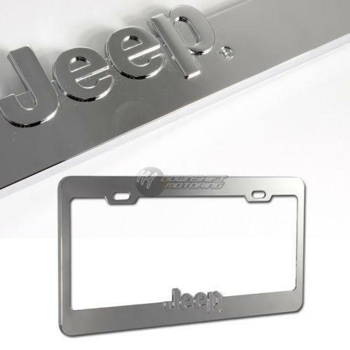 Jeep Chrome License Plate Ebay