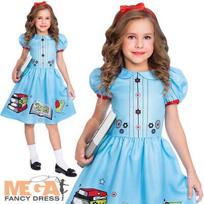 Clever Little Book Worm Girls Fancy Dress Matilda Kids World Book Day Costume