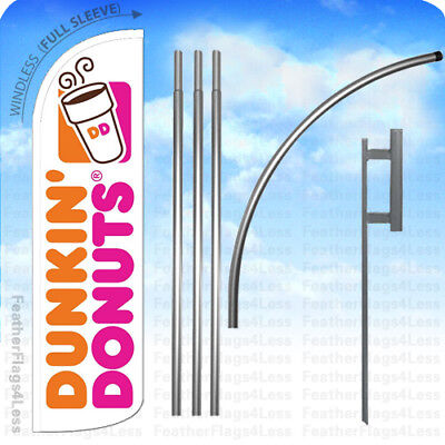 Dunkin Donuts - Windless Swooper Flag Kit Feather Banner Sign 15 Wq