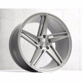 """Staggered 19"""" Veeman VFS31 alloy wheels and tyres 5x112 VW Audi Seat"""
