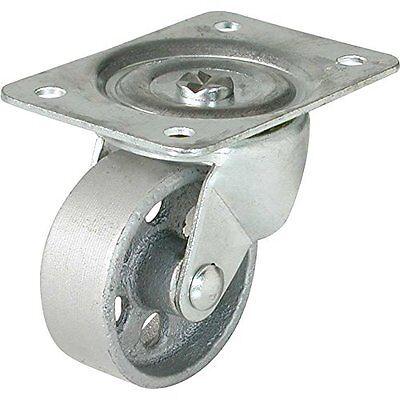 Shepherd Hardware 9176 2-12-inch Cast Iron Swivel Plate Caster 175-lb Load Cap
