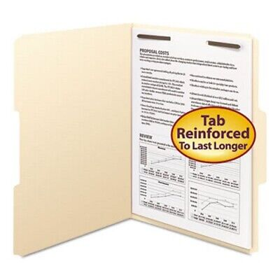 Smead Manila Folders Wfastener Top Tab Letter 50box Smd14534