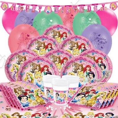 Disney Princess Birthday Partyware Tablecloth Plates Cup Napkin Bag Belle - Rapunzel Plates