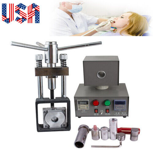 Dental Lab Manual Denture Injection Unit  heater & hot press System Machine 110V