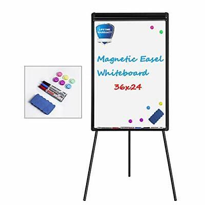 White Board Easel Stand Magnetic Whiteboard Flipchart Tripod Easel Height New