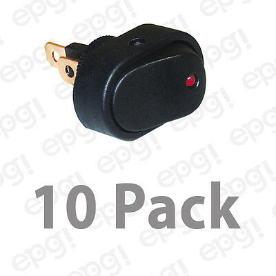 Spst Onoff Led Illuminated Rocker Switch Red 20amps - 12vdc Rsrdlx-10pk
