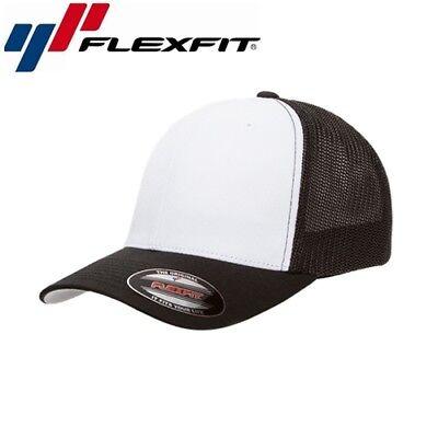 Weiß Mesh Cap (Flexfit Mesh Trucker Trucker Cap L/XL Weiß Schwarz)
