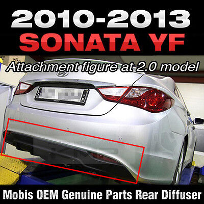 Rear Bumper Guard Skid Plate Diffuser For 2011 2012 2013 2014 HYUNDAI YF SONATA