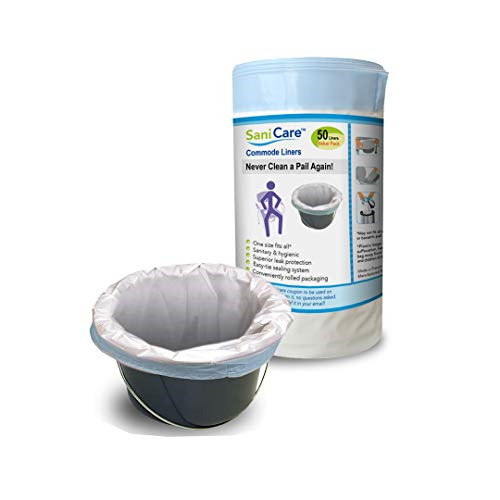 Commode Liners - Value Pack 50 Disposable Bedside Commode Li