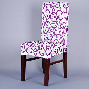 Stretch Short Removable Dining Room Stool Chair Cover