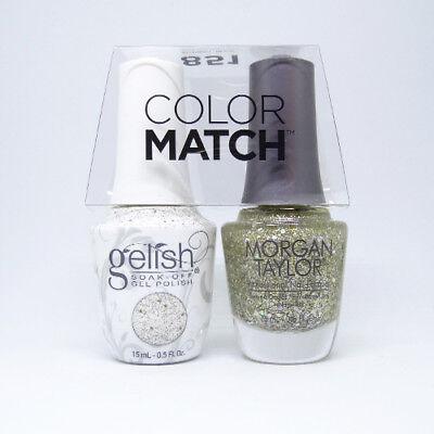 "Gelish Duo Soak-Off Gel Polish + Matching Nail Lacquer ""Grand Jewels"" 0.5 oz"
