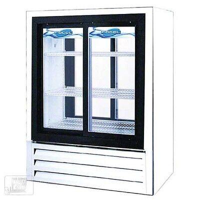 2 DOOR SLIDING FRONT/REAR ACCESS GLASS DOOR REFRIGERATOR 2 Glass Door Refrigerator