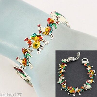 Chicken Rooster Hen Farm Pet Bird Colorful Poultry Farmer Cute Bracelet #222-A for sale  Shipping to Nigeria