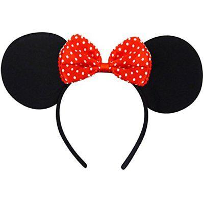 German Trendseller® - Minnie Maus Ohren | Kostüm | Mäuschen Ohren | Fasching (Maus Kostüm Ohren)