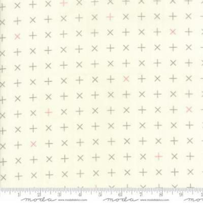 Zen Chic Modern BG Colorbox Geometric Crosses Fabric in Porcelain Dove 1645-21