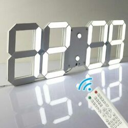 Remote Control LED Digital Skeleton Wall Clock Timer 3D Hour Display Alarm Clock
