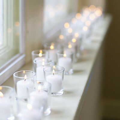 72 Glass Holders (Eastland Glass Votive Holders & Votive Candles Set of 72,10 Hour)