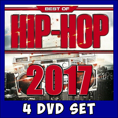 Hip-Hop Best of 2017 Music Videos * 4 DVD Set * 114 of the hottest Rap Hits