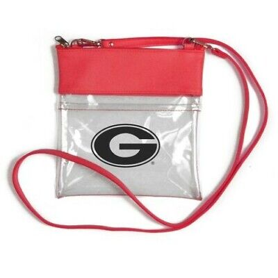 Georgia Bulldog Game (GEORGIA BULLDOGS CLEAR GAME DAY CROSSBODY BAG STADIUM APPROVED PURSE NEW)
