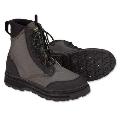 Studded wading boots fishing ebay for Fishing waders with boots