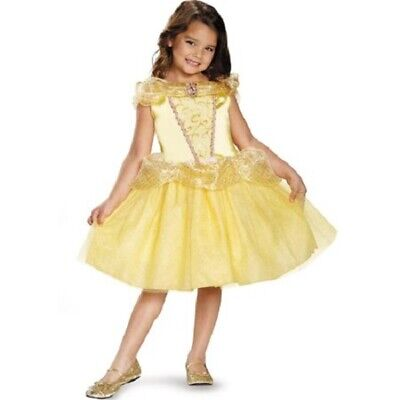 Disney Belle Princess Child Girl Costume Beauty and the Beast, Size XS 3T-4T](Belle Child Costume)