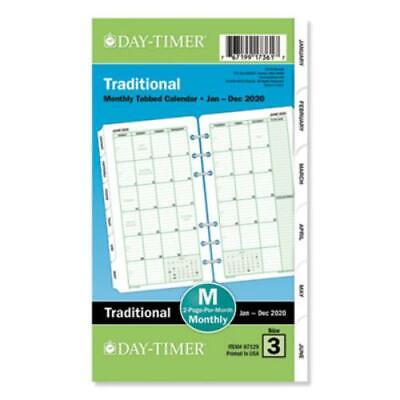 Day-timer 87129 Monthly Classic Refill 3 34 X 6 34 Whitegreen 2019